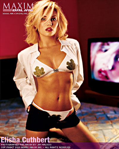 Elisha Cuthbert Photo Shoot for MAXIM August/September 2001 Issue