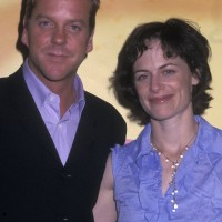 Kiefer Sutherland and Sarah Clarke at FOX Upfront 2002