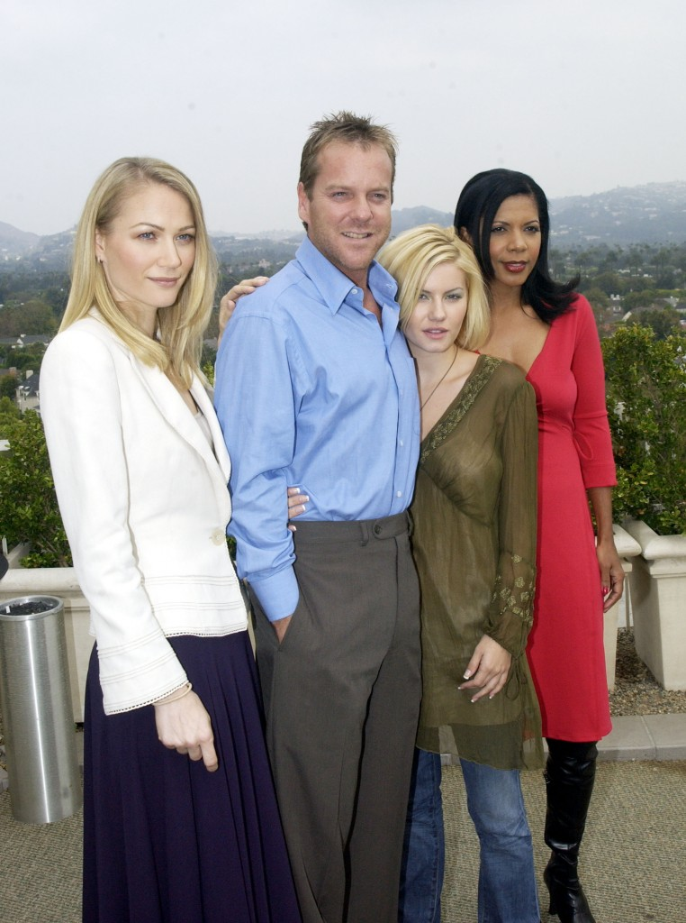 Sarah Wynter, Kiefer Sutherland, Elisha Cuthbert, and Penny Johnson Jerald at 24 Season 2 Press Conference