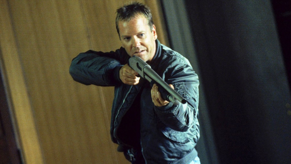 Jack Bauer with a shotgun in 24 Season 2 Episode 4