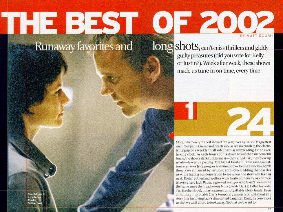 TV Guide Scan - 24 Best Show of 2002