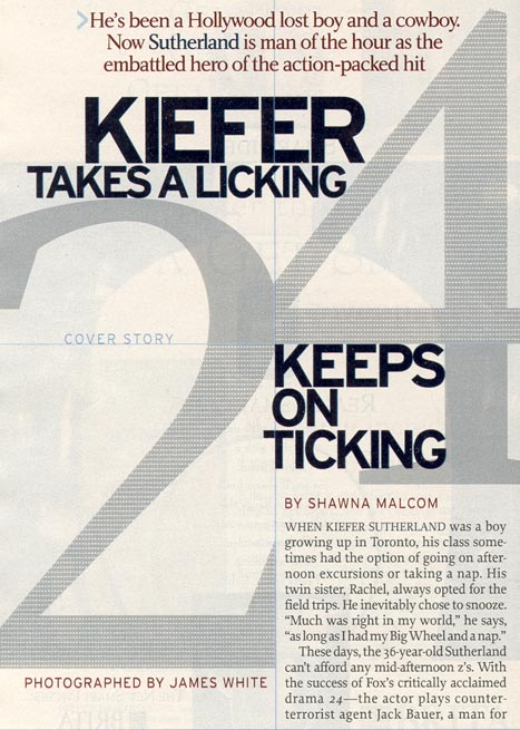 Kiefer Sutherland 2003 TV Guide Interview - Page 1
