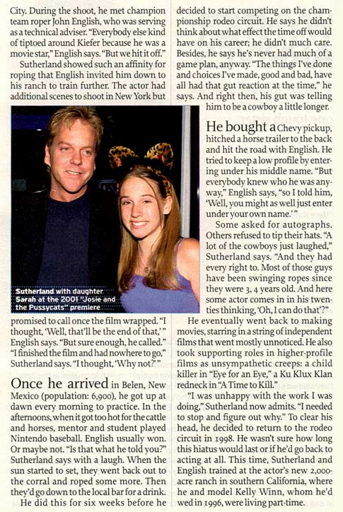 Kiefer Sutherland 2003 TV Guide Interview - Page 3