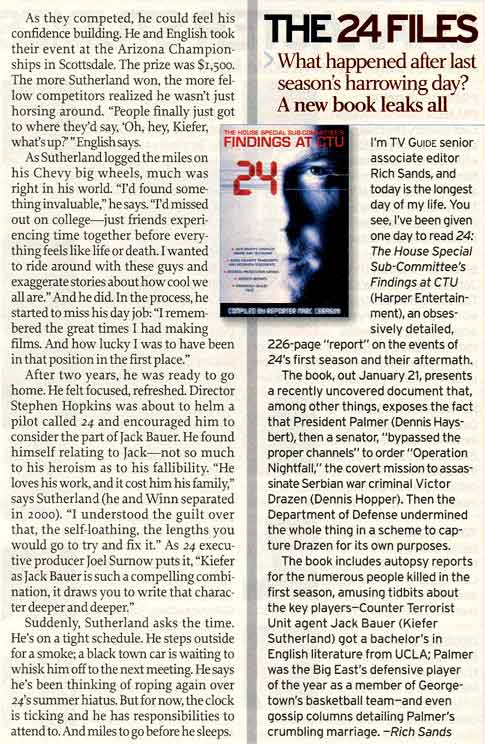 Kiefer Sutherland 2003 TV Guide Interview - Page 4