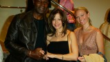 Dennis Haysbert, Kelly Preston and Sarah Wynter at Tod's Beverly Hills Boutique Charity Event