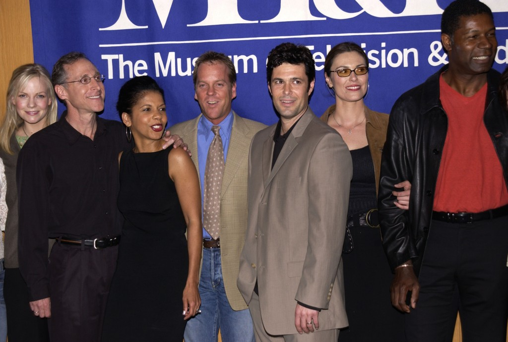 "Laura Harris, Michael Loceff, Penny Johnson Jerald, Kiefer Sutherland, Carlos Bernard, Michelle Forbes, Dennis Haysbert at The 20th Anniversary William S. Paley Television Festival Presents ""24"""