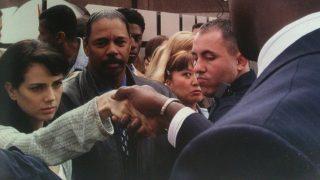 Mandy shaking President David Palmer's hand in the 24 Season 2 finale