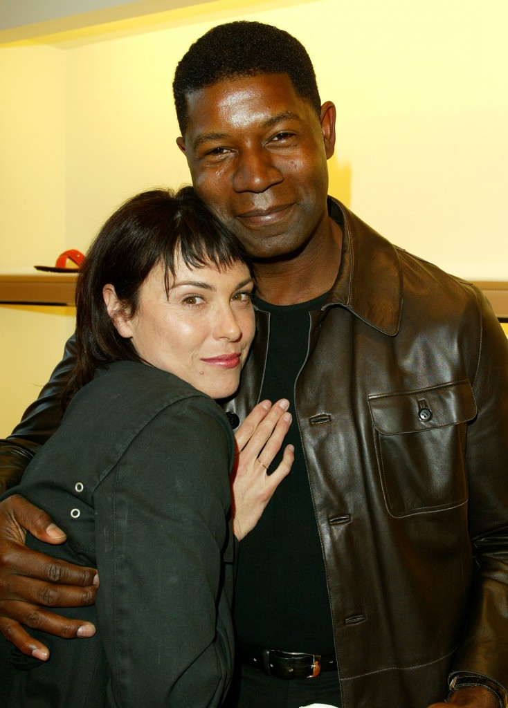 Michelle Forbes and Dennis Haysbert at Tod's Beverly Hills Boutique Charity Event To Benefit Caring For Children & Families With Aids