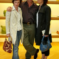 Sarah Clarke, Xander Berkeley and Michelle Forbes at Tod's Beverly Hills Boutique Charity Event To Benefit Caring For Children & Families With Aids