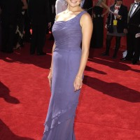 Reiko Aylesworth on red carpet of 55th Annual Primetime Emmys