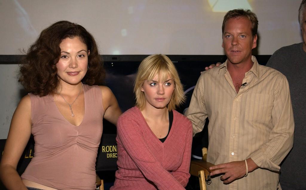Reiko Aylesworth, Elisha Cuthbert, Kiefer Sutherland at 24 Season Two 24-Hour Marathon Screening