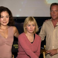 Reiko Aylesworth, Elisha Cuthbert, Kiefer Sutherland at 24 Season Two 24-Hour Marathon Screening