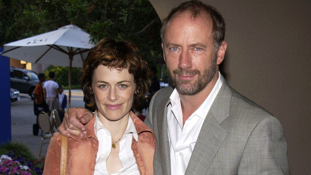 Sarah Clarke and Xander Berkeley at the Fox Broadcasting Summer 2002 Press Tour