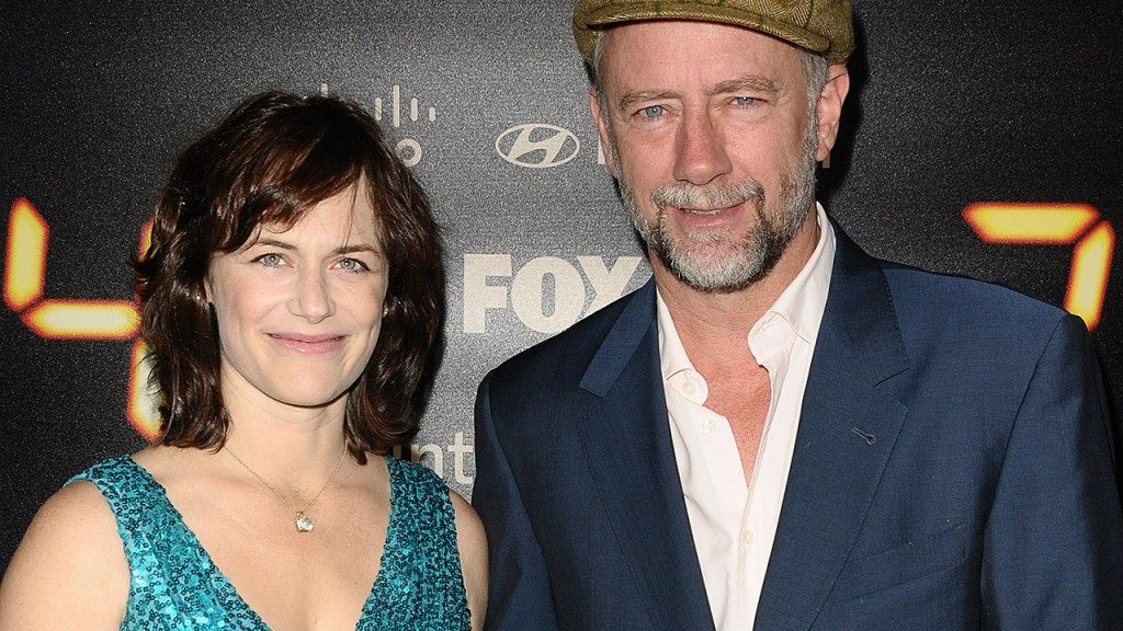 Sarah Clarke and Xander Berkeley at the 24 Series Finale Party in 2010