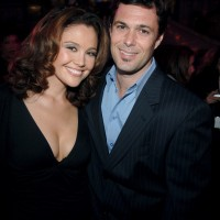 Reiko Aylesworth, Carlos Bernard at A&E Network Upfronts