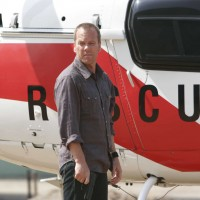 Jack Bauer outside the helicopter in 24 Season 5 Episode 1