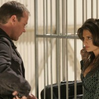 Jack Bauer questions Collette Stenger in 24 Season 5 Episode 14
