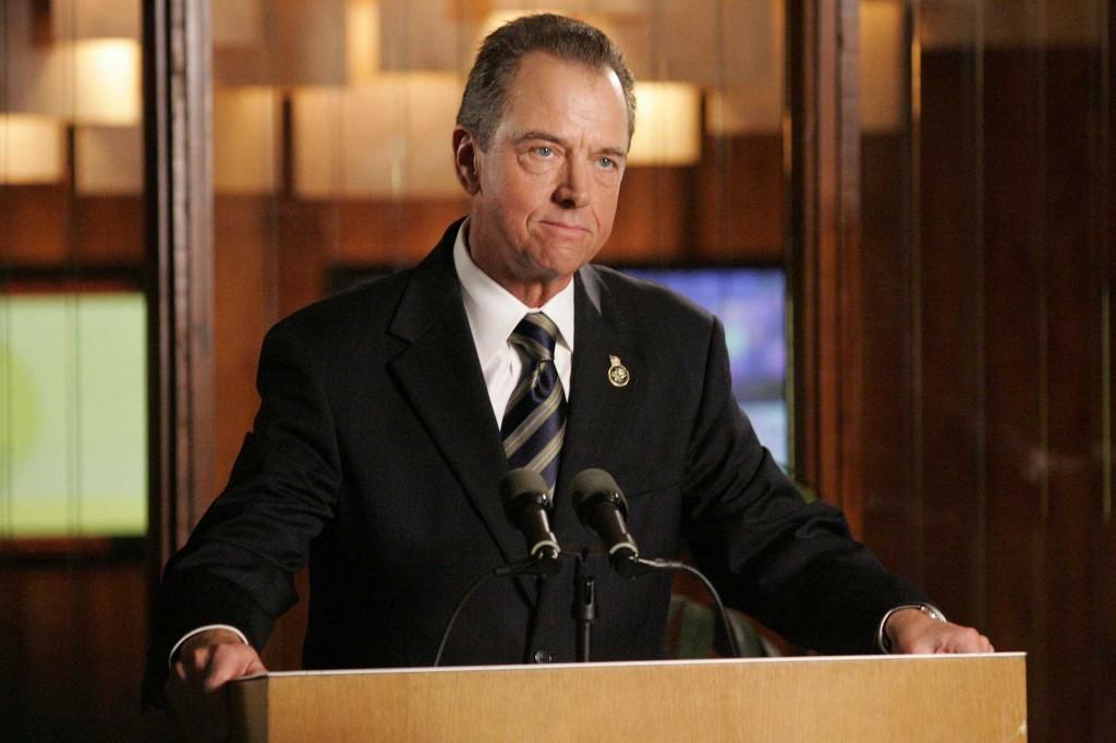 Charles Logan at podium 24 Season 5 Episode 17