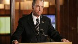 Charles Logan holds a press conference in 24 Season 5 Episode 17