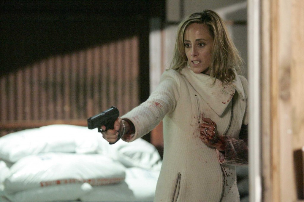 Audrey Raines with gun 24 Season 5