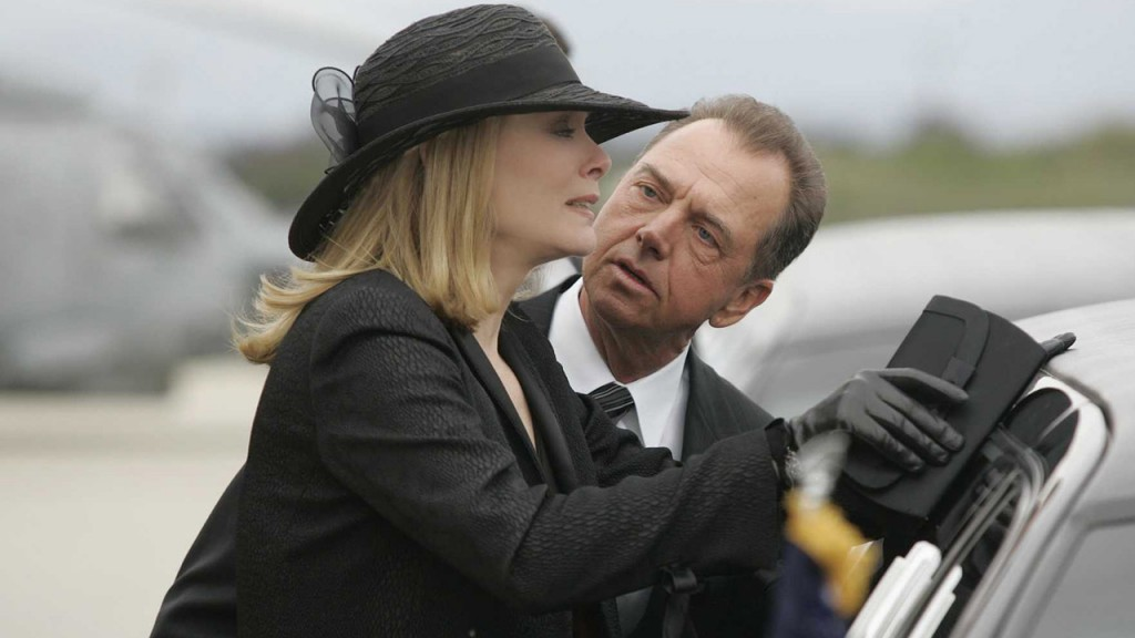 First lady Martha Logan (Jean Smart) and President Charles Logan (Gregory Itzin) in the 24 Season 5 Finale