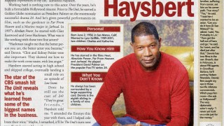 Dennis Haysbert in Parade Magazine October 26, 2006 Issue