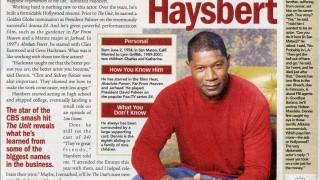 Dennis Haysbert in Parade Magazine October 26, 2006 Issue