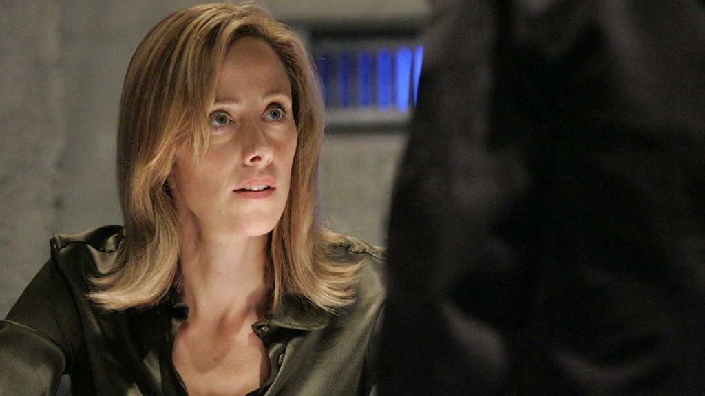 Audrey Raines is interrogated in 24 Season 5