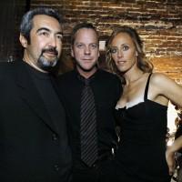 Jon Cassar Kiefer Sutherland and Kim Raver at 24 Season 5 DVD Launch Party