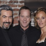 Jon Cassar Kiefer Sutherland and Kim Raver at 24 Season 5 DVD Launch Party