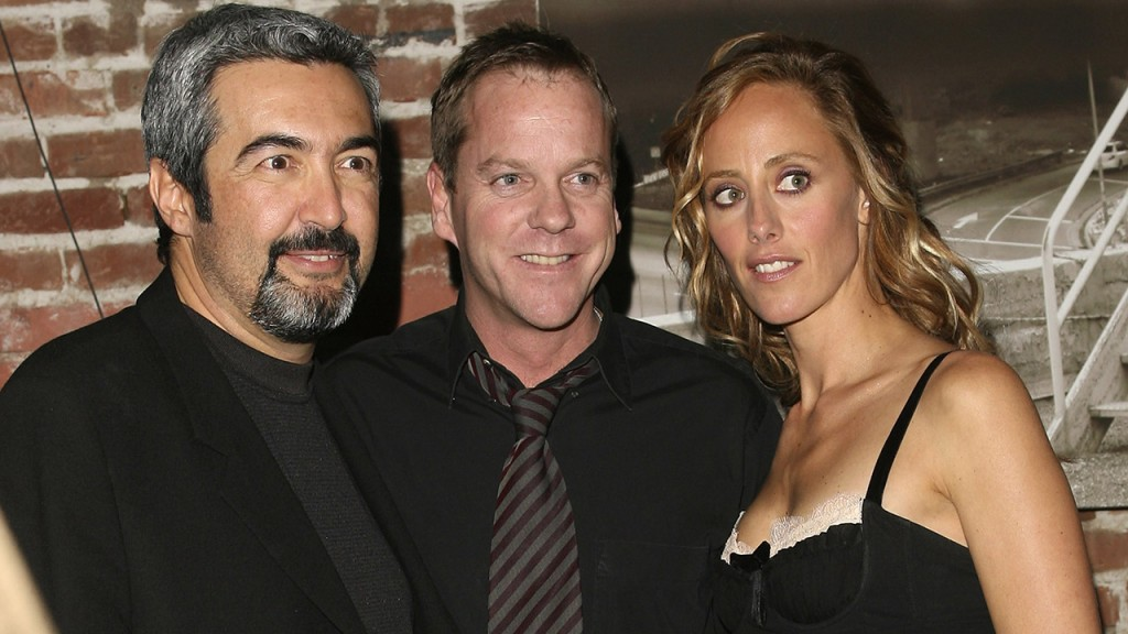 Jon Cassar, Kim Raver, and Kiefer Sutherland at the 24 Season 5 DVD Launch Party