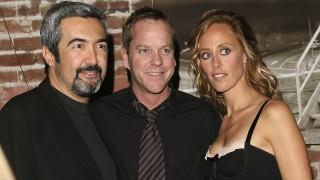 Jon Cassar, Kim Raver, and Kiefer Sutherland at the 24 Season 5 DVD Launch Party