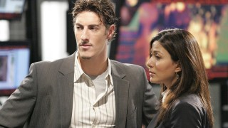 Milo Pressman and Nadia Yassir inside CTU Los Angeles