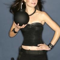Mary Lynn Rajskub Geek Monthly Bomb Pose