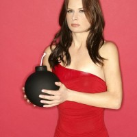 Mary Lynn Rajskub Geek Monthly Bomb Holding