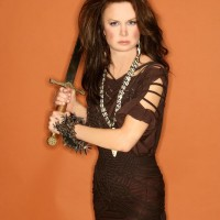 Mary Lynn Rajskub Geek Monthly Photoshoot Sword