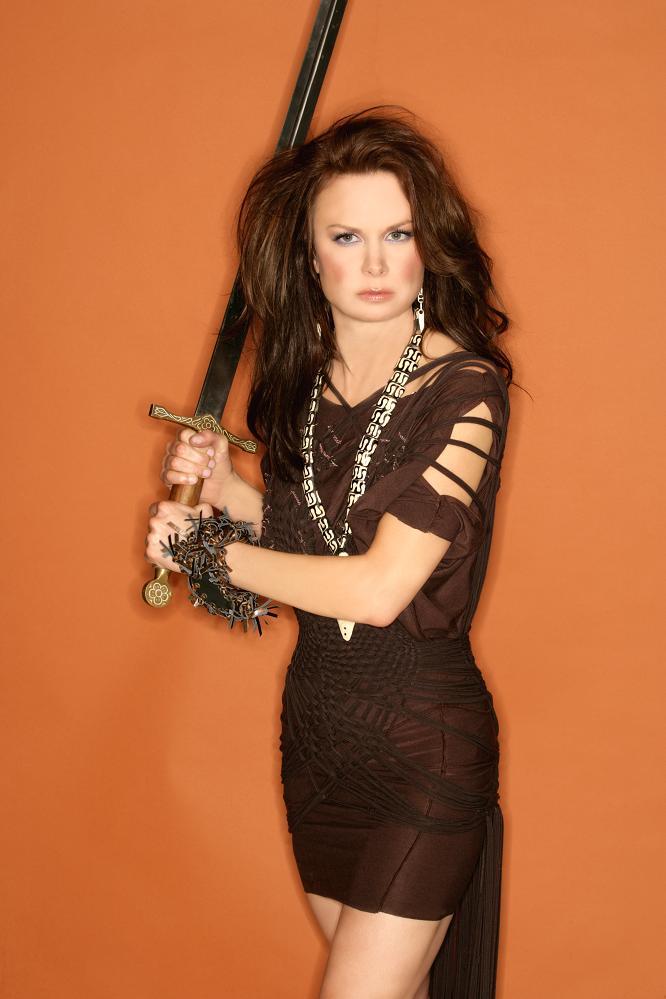 Mary Lynn Rajskub Geek Monthly Photoshoot Sword