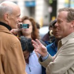 Michael Chertoff talking to Kiefer Sutherland