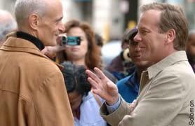 Michael Chertoff talking to Kiefer Sutherland