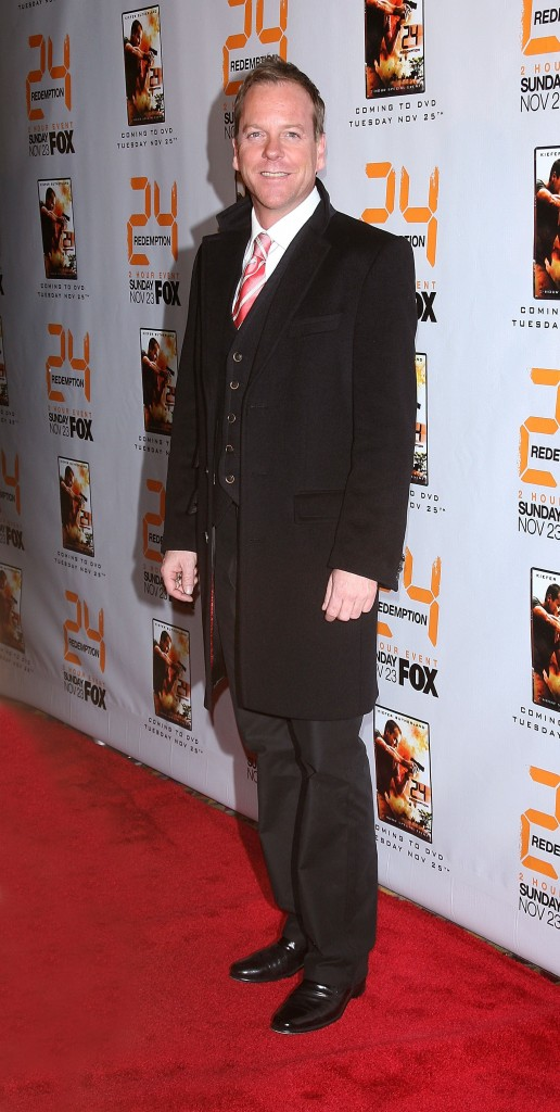 Kiefer Sutherland at 24 Redemption Premiere in NYC