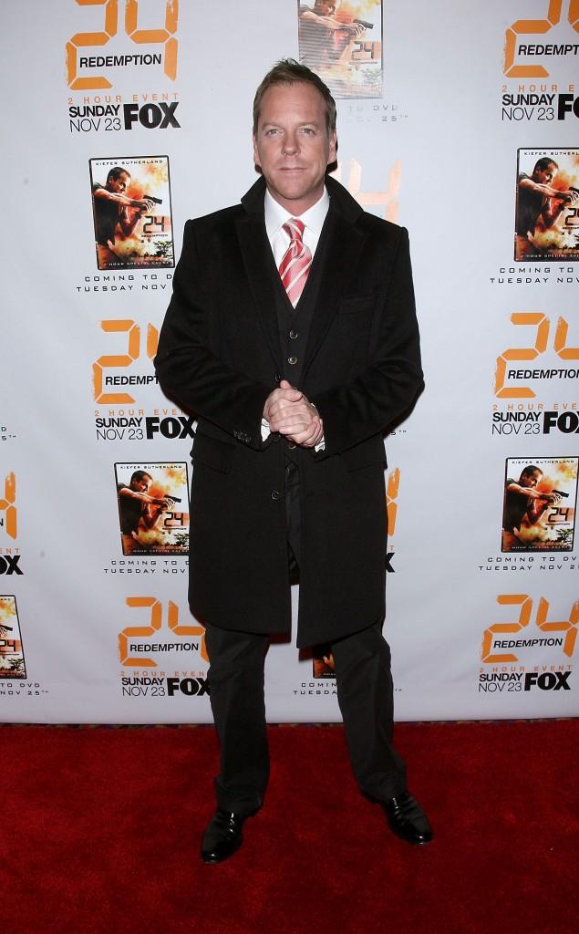 Kiefer Sutherland at 24 Redemption Premiere in NYC