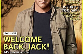 Kiefer Sutherland on cover of TV Guide November 17 2008 issue