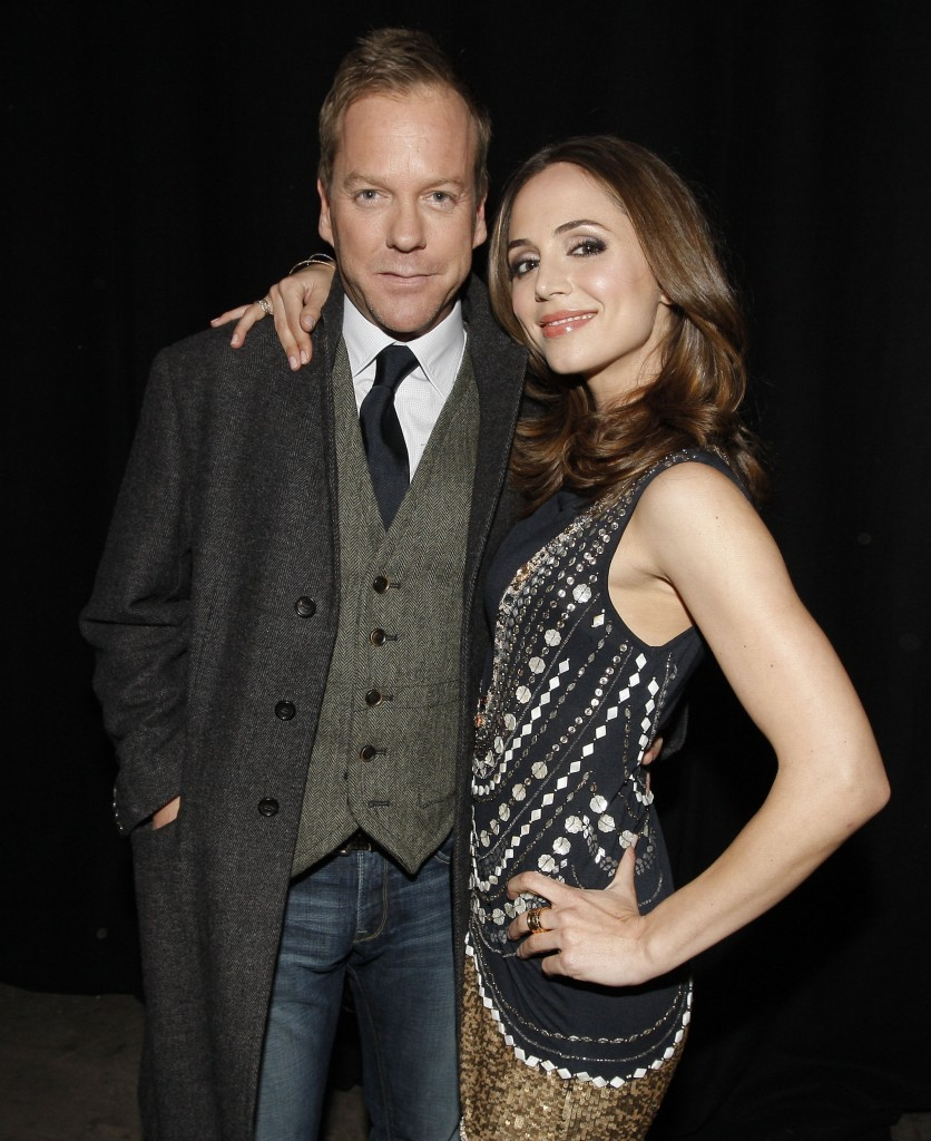 Kiefer Sutherland and Eliza Dushku at Spike TV's Sixth Annual Video Game Awards