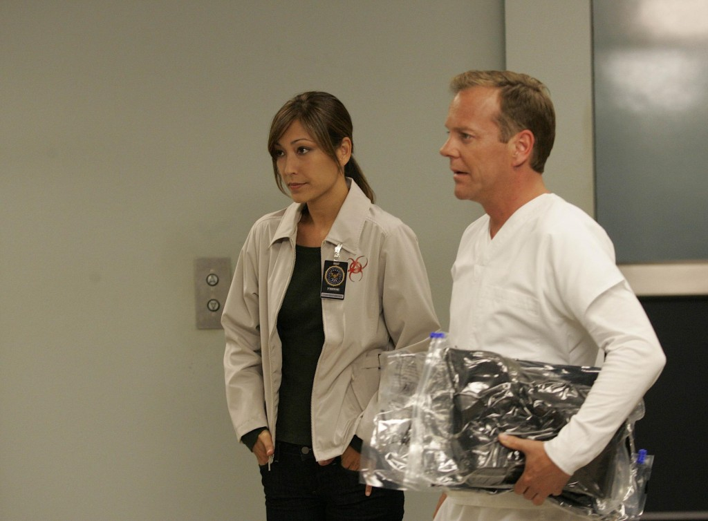 Christina Chang as Sunny Macer and Jack Bauer 24 Season 7 Episode 16