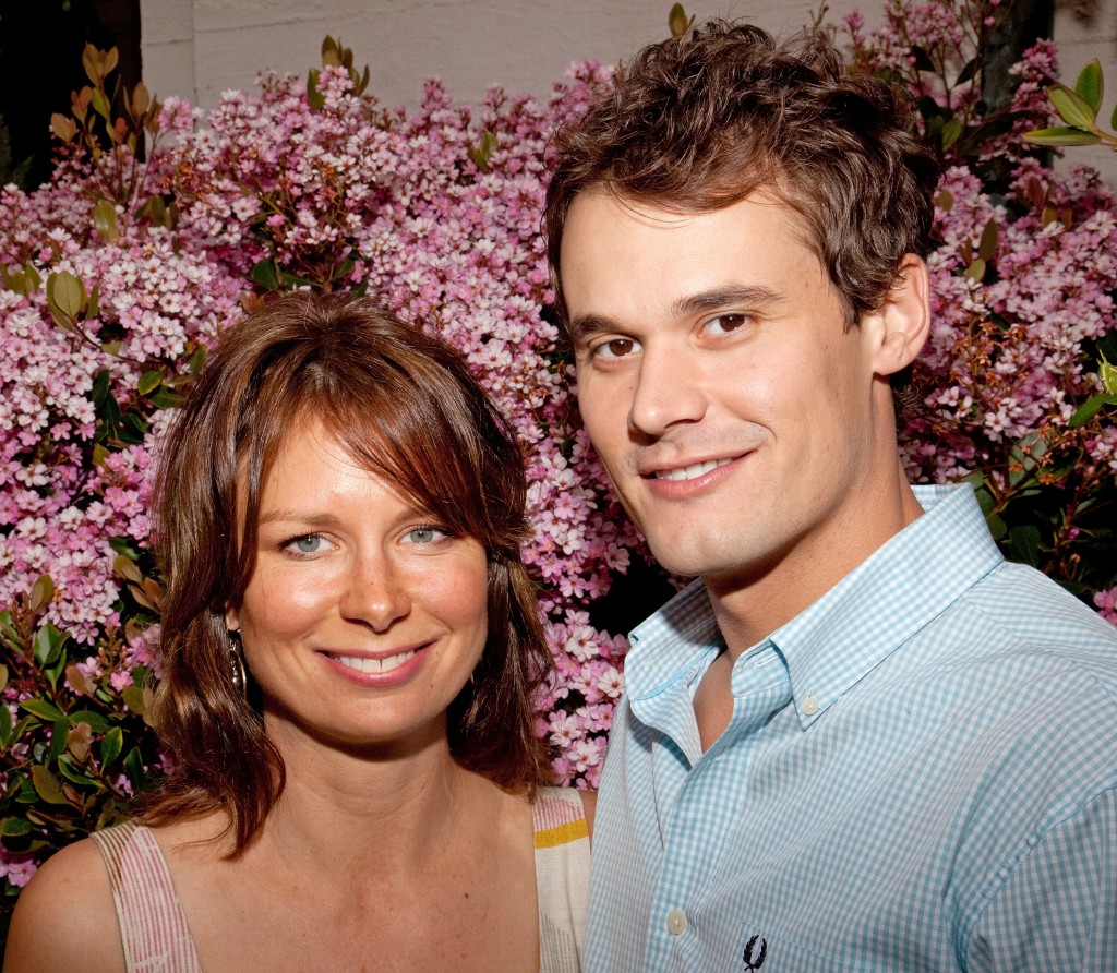 Mary Lynn Rajskub and husband Matthew Rolph at Art Show Opening Reception