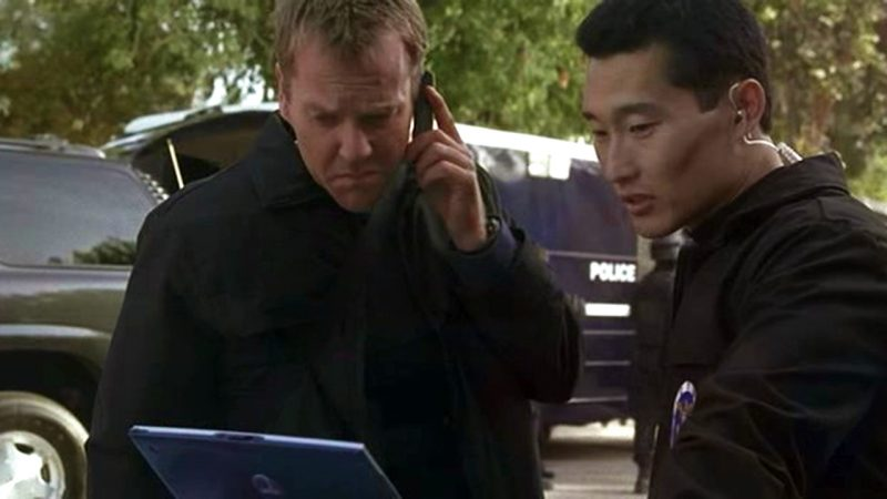Daniel Dae Kim with Kiefer Sutherland in 24