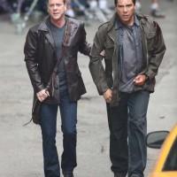 Kiefer Sutherland and Benito Martinez filming 24 Season 8 premiere