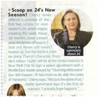 Cherry Jones TV Guide Magazine 24 Season 8