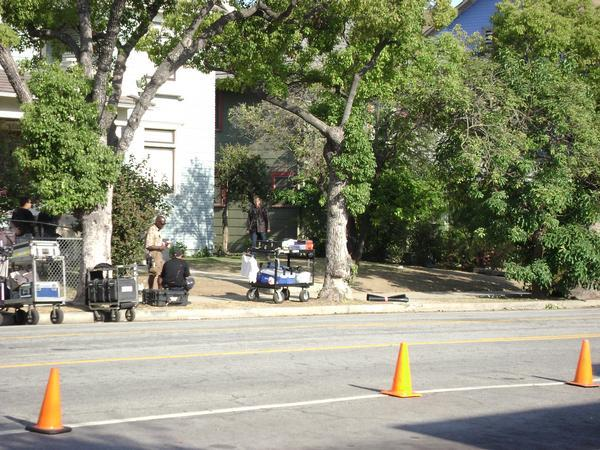 Kiefer Sutherland 24 Season 8 on location set pic