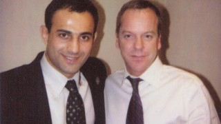 Roman Mitichyan with Kiefer Sutherland